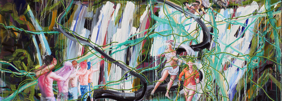 눈먼자의 숲에서 메두사를 보라 Behold Medusa at the forest of the blind 181x227cm oil on canvas 2019-7
