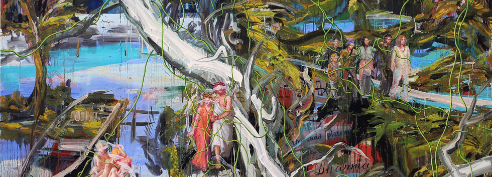 눈먼자의 숲에서 메두사를 보라 Behold Medusa at the forest of the blind 181x227cm oil on canvas 2019-6