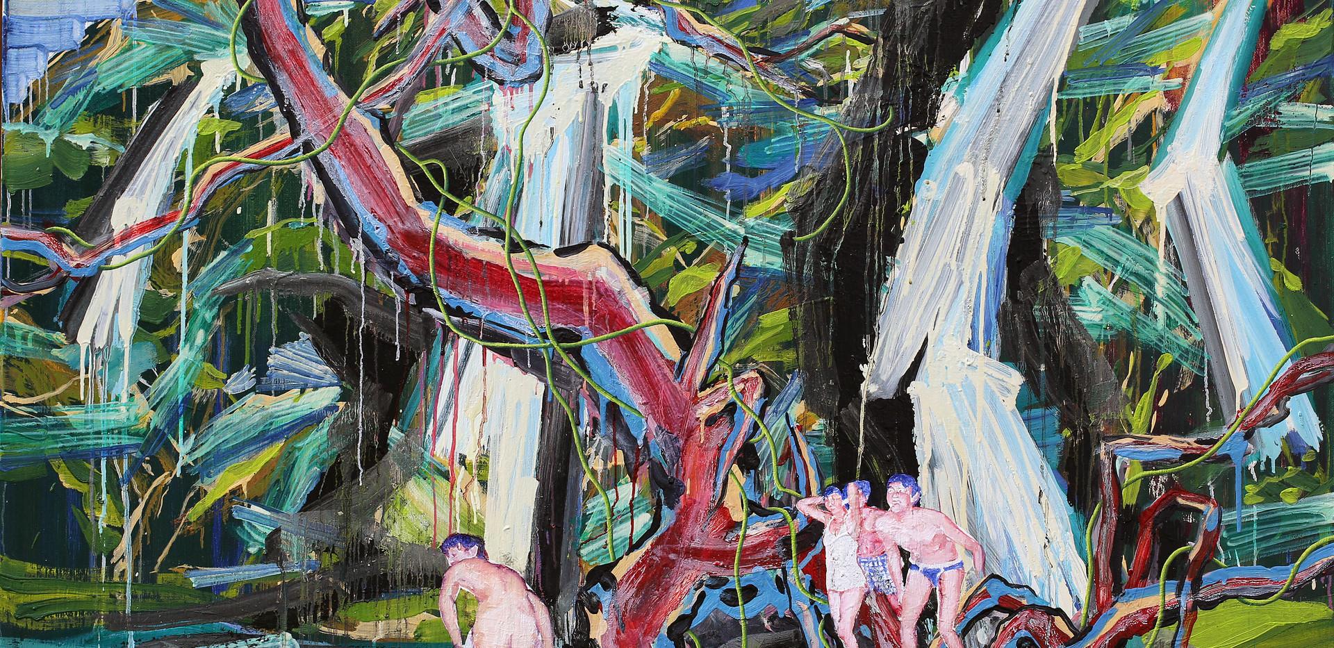 The pond of Veiled Ophelia 162x130cm oil on canvas 2018-7