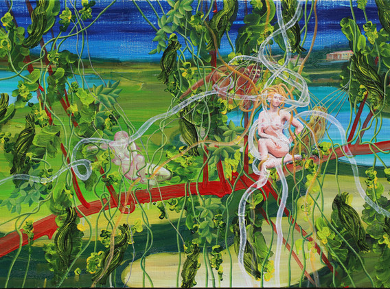 The pond of Ophelia 65x100cm oil on canvas 2018-3