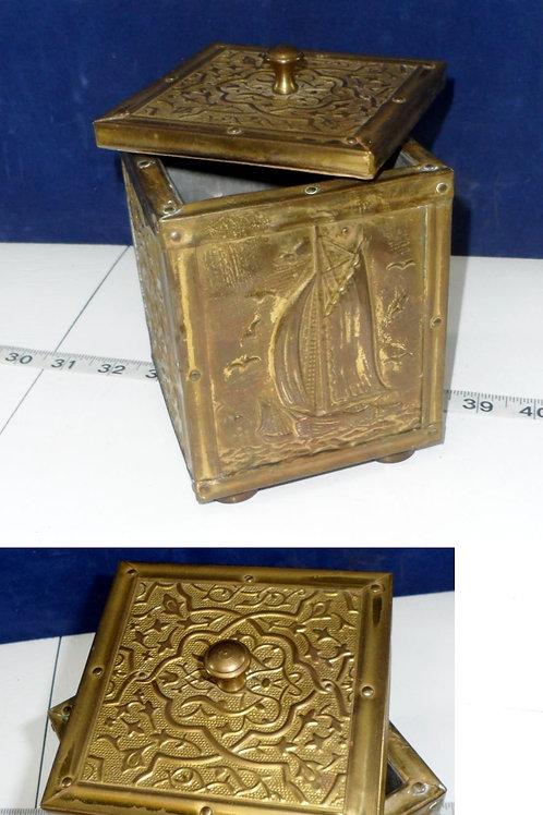 Ornate Brass Trinket Box