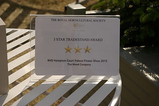 RHS Hampton Court 3Gold Star award