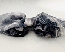 Featherweight Chiffon Snood in Smoke/Grey/White
