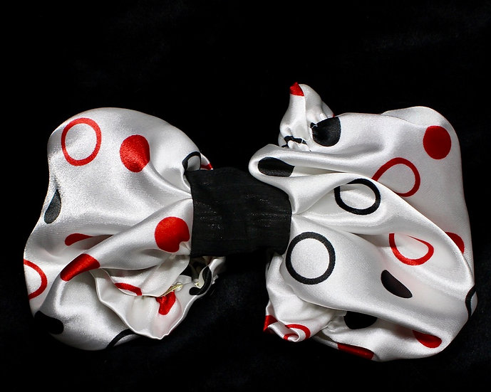 Charmeuse in Red/Black and white Dots