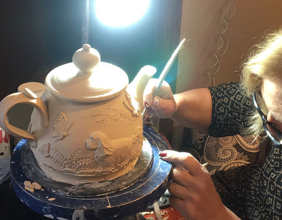 Cindy Working on Teapot.jpg