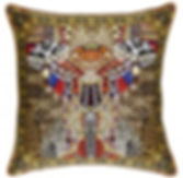 Camilla Leopards leap large cushion
