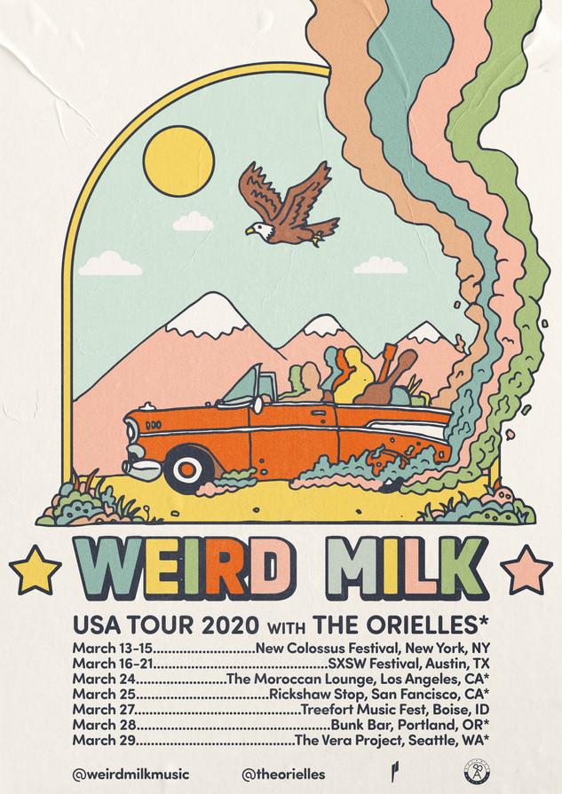 Weird Milk - USA Tour Poster