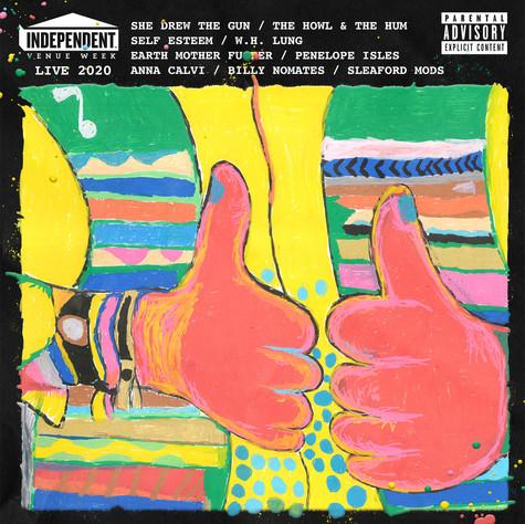 """*Cover Artwork by Big Jeff* INDEPENTDENT VENUE WEEK - LIVE 2020 (12"""" GATEFOLD LP)"""