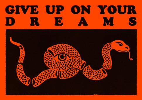 GUOYD Snake - Neon Red Print