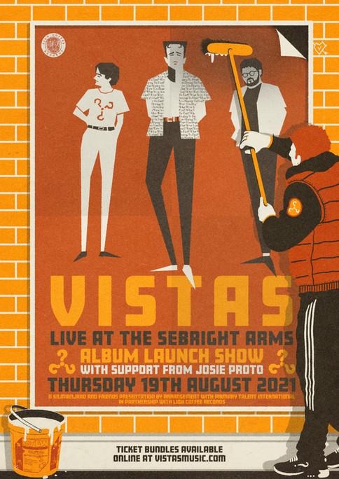 VISTAS ALBUM LAUNCH SHOW AT THE SEBRIGHT ARMS