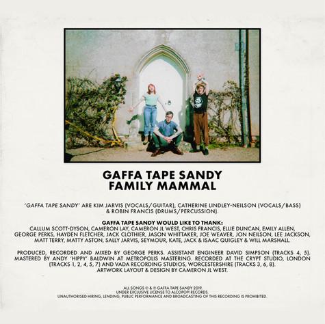 GAFFA TAPE SANDY - FAMILY MAMMAL EP (CD)