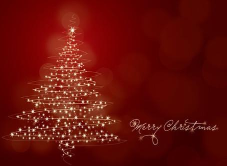 Merry Christmas!  Christmas Break and New Year updates