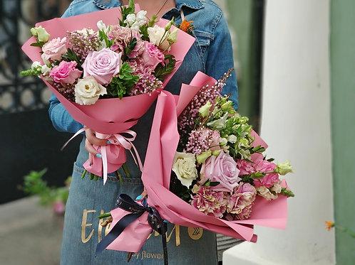 Букет в нежно розовых оттенках