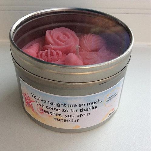 'Thank You Teacher'/ 'Key Worker' 250ml Luxury Candle