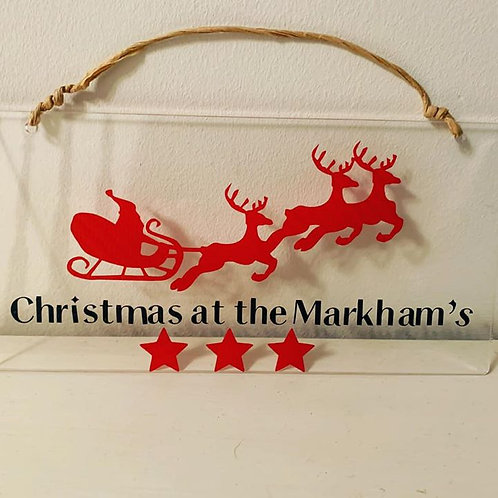 Christmas Family Word Plaque