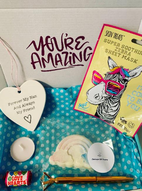 Nan Birthday Day, Letterbox Gift, Positivity Box, Love Heart, Wax Me