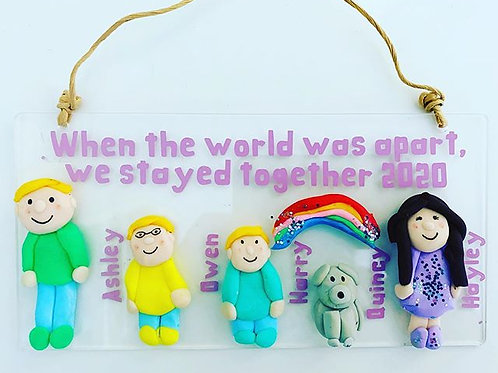 Lockdown Handmade Plaques 'Somewhere Over The Rainbow' - Personalised Plaque