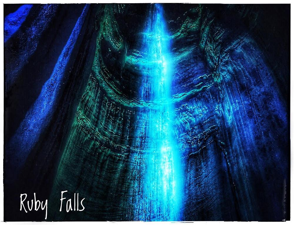 waterfalls, underground waterfall, caves