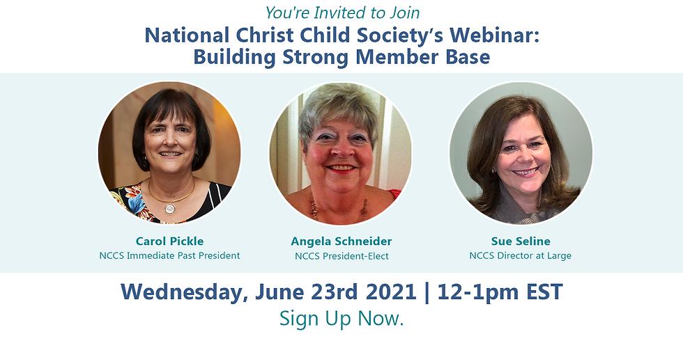 NCCS Membership Webinar: Building Strong Member Base