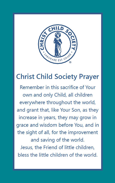 Christ Child Society Prayer Cards