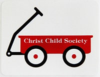Red Wagon Self-Adhesive Stickers