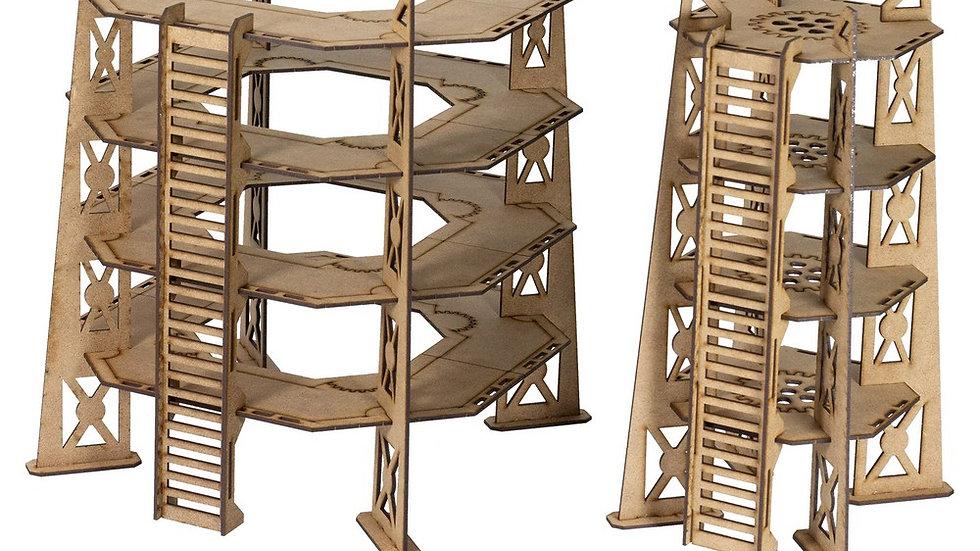 Complex Red - 4 Storey Tower Set
