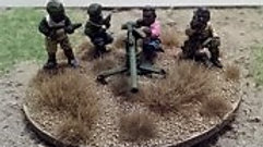T0009 20mm African 105mm Recoiless Rifle & 4 Crew