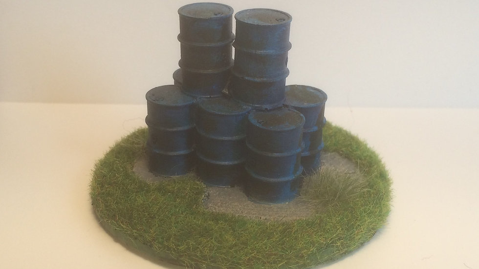 S02 28mm Scale Oil Drums(8)