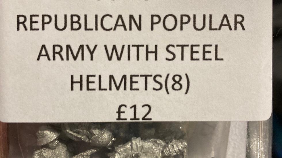 SCW31 REPUBLICAN POPULAR ARMY WITH STEEL HELMETS (8)
