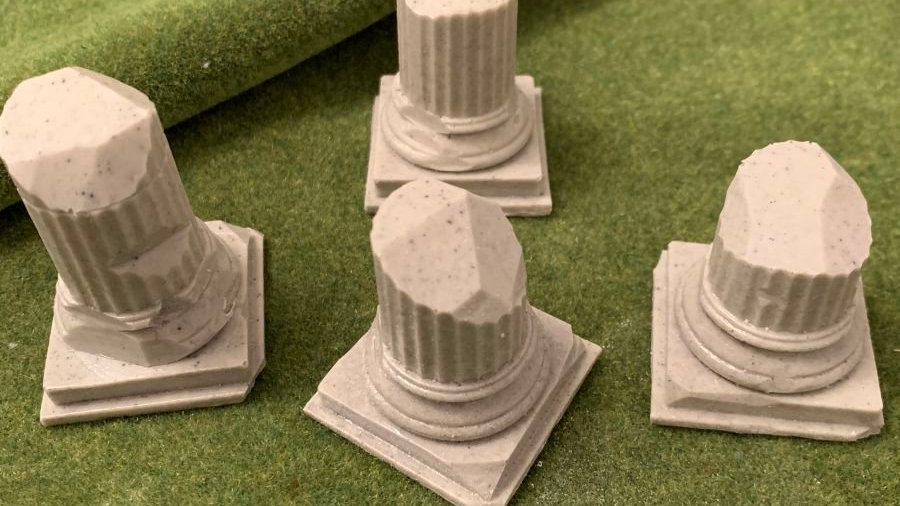 Four Ancient/Classical Ruined Stone Columns