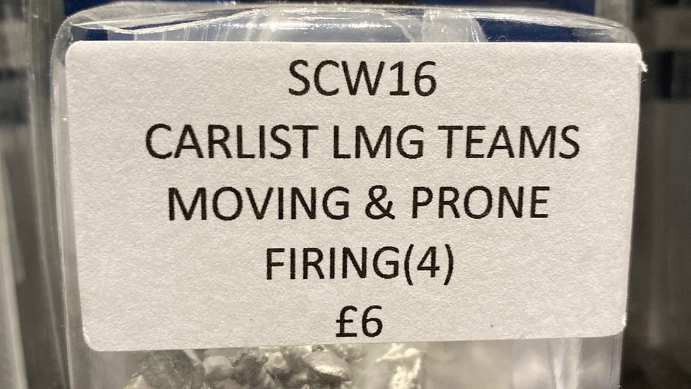 SCW16 CARLIST LMG TEAMS, MOVING & PRONE, FIRING(4)