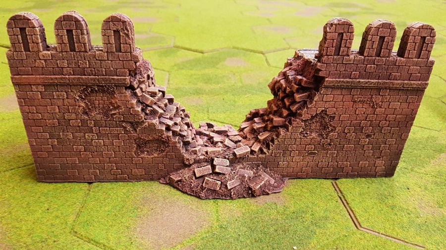 ME05 Middle Eastern Fortress Wall Breach Section