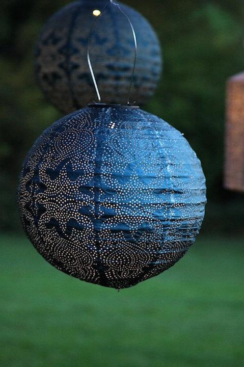 Round Solar Powered Lantern