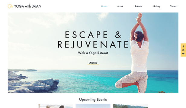 Sport en recreatie website templates – Yoga Retreat
