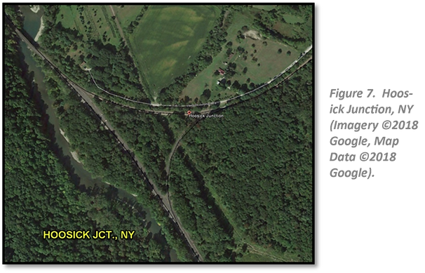 Figure 7.  Hoosick Junction, NY (Imagery ©2018 Google, Map Data ©2018 Google).