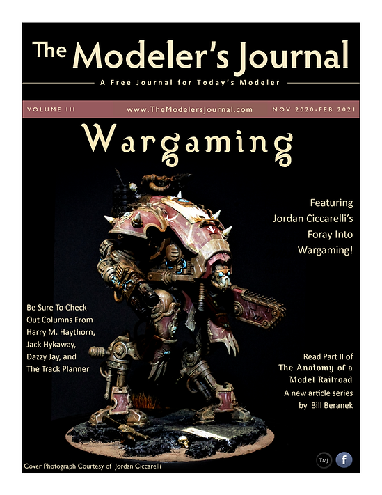 The Modeler's Journal - Nov 2020 -  Feb 2021