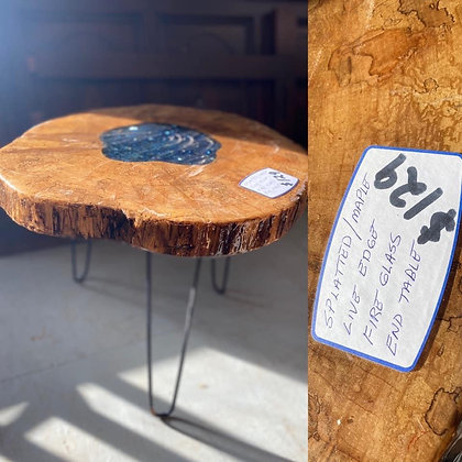 Splatted Maple End Table