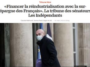 L'Opinion - Vanina Paoli-Gagin / Claude Malhuret : Une tribune pour orienter l'épargne des Français