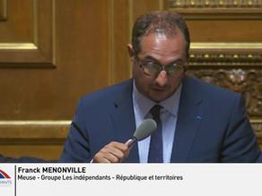 Franck MENONVILLE : Débat - Conclusions du rapport d'information : Vers une alimentation durable...
