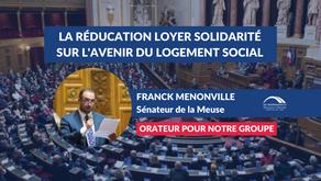 Franck MENONVILLE : Débat - Impact de la Réduction Loyer Solidarité sur l'avenir du logement social