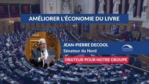 Jean-Pierre DECOOL : Améliorer l'économie du livre et renforcer l'équité entre ses acteurs