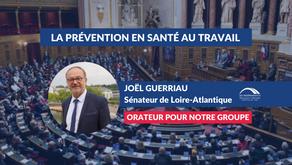 Joël GUERRIAU : Proposition de loi pour renforcer la prévention en santé au travail