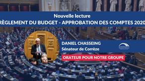 Daniel CHASSEING : Nouvelle lecture - Règlement du budget et approbation des comptes de 2020