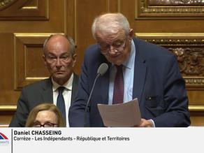 Daniel CHASSEING : Question à Monsieur Didier GUILLAUME, sur les inquiétudes des agriculteurs