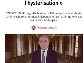 Le Point - Claude Malhuret : Stratégie vaccinale - « Gardons-nous de participer à l'hystérisation »
