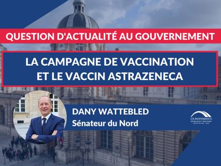 Dany WATTEBLED : QAG - La campagne de vaccination