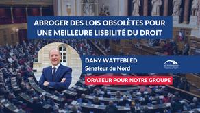 Dany WATTEBLED : Abroger des lois obsolètes pour une meilleure lisibilité du droit