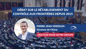 """Pierre-Jean VERZELEN : """"Rétablissement du contrôle aux frontières depuis 2015 : bilan -perspectives"""""""