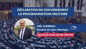 Joël GUERRIAU : Déclaration du Gouvernement et débat sur la programmation militaire