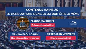 """Débat """"Contenus haineux : en ligne ou hors-ligne, la loi doit être la même"""" - Claude MALHURET"""